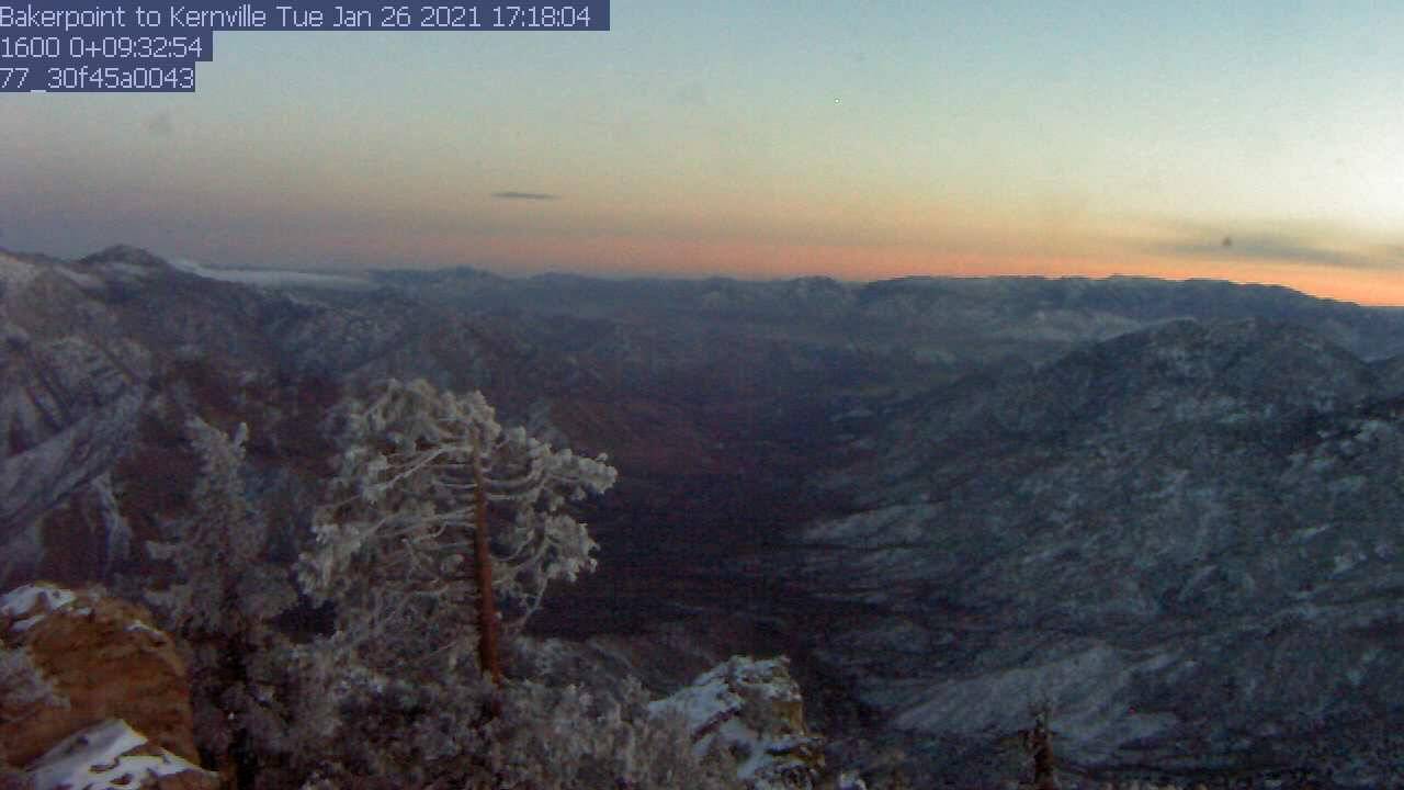 Baker Point WebCam #2 - SSE toward Kernville