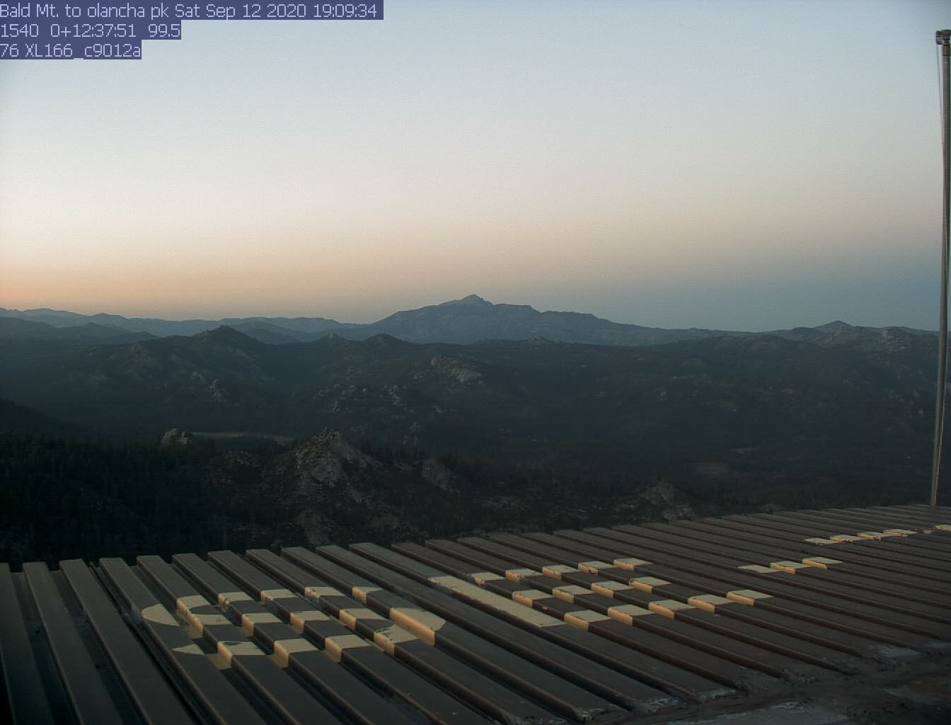 Bald Mtn. WebCam #3 - East toward Kennedy Meadows