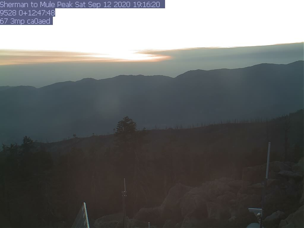 Sherman Peak WebCam #7 - West toward Mule Peak