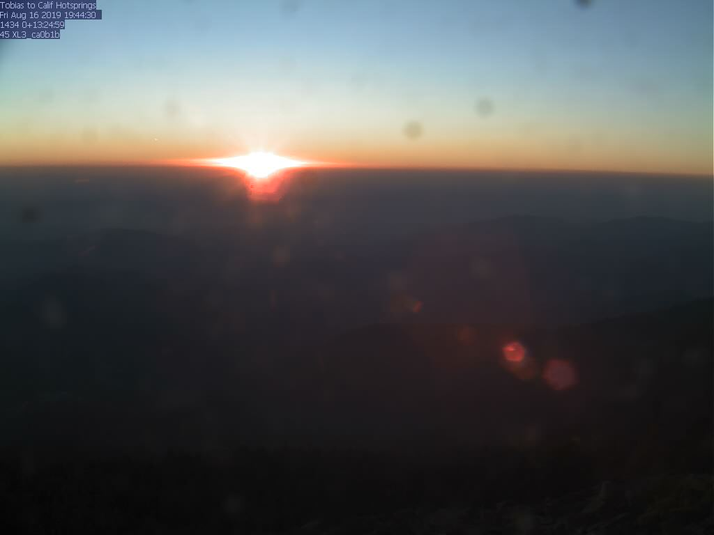 Tobias Peak WebCam #5 - Northwest toward California Hot Springs