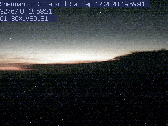 Sherman Peak WebCam #1 - Northwest to Farewell Gap
