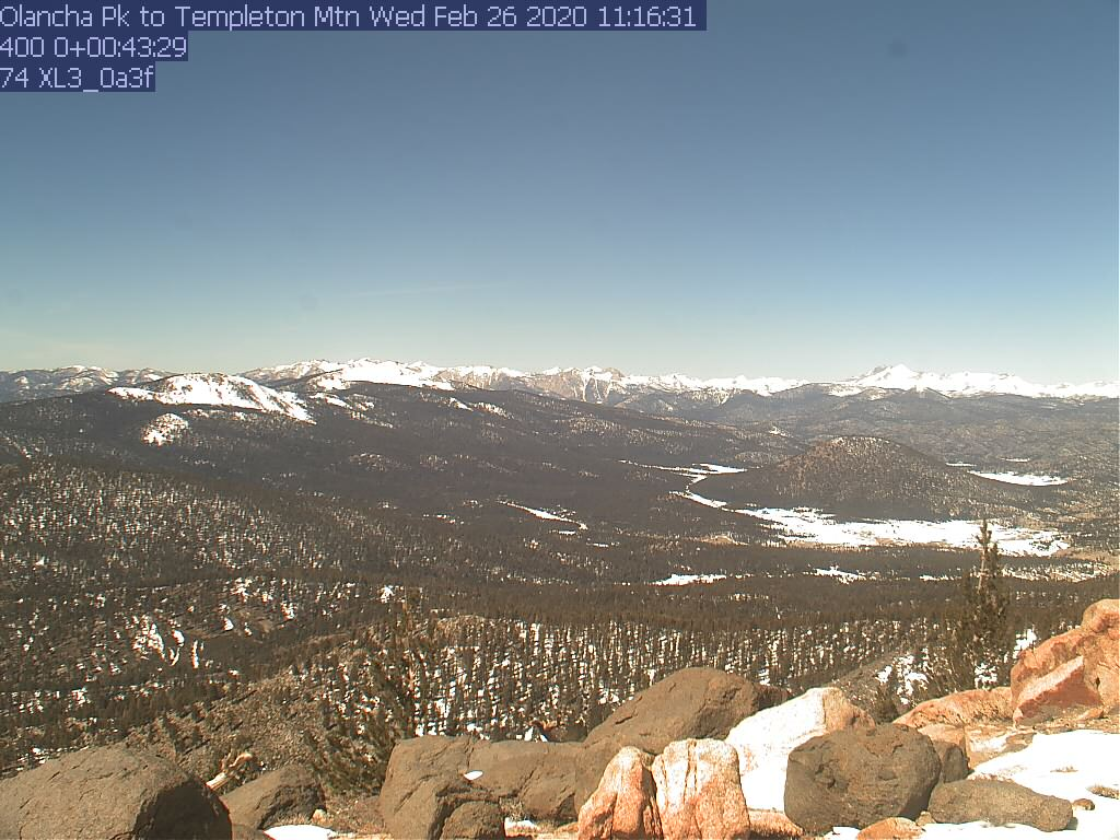 Sherman Peak WebCam #6 - Southwest to Tobias Peak & Baker Pt.